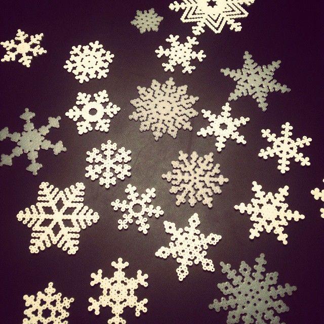 Snowflakes perler beads by sofie_juhl