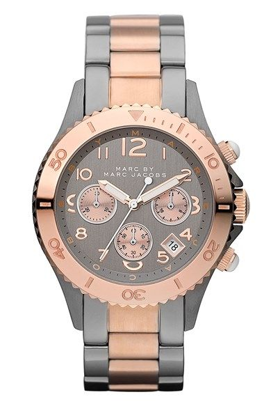 Free shipping and returns on MARC BY MARC JACOBS 'Rock' Chronograph Bracelet Watch, 40mm at Nordstrom.com. Cool, modern design and a chunky silhouette define a stylish watch with a creatively branded dial.