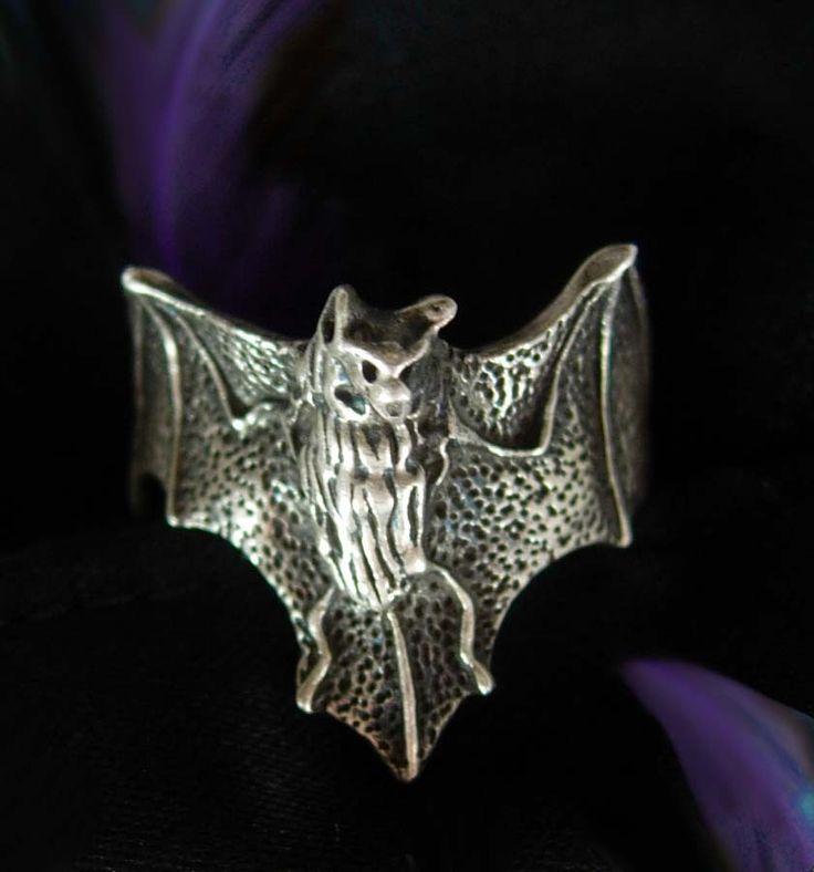 Sterling Silver Bat Ring