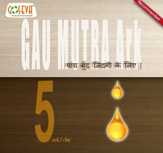 Gau Mutra Ark 5Drops/Daily for Healthy Life - GoSeva