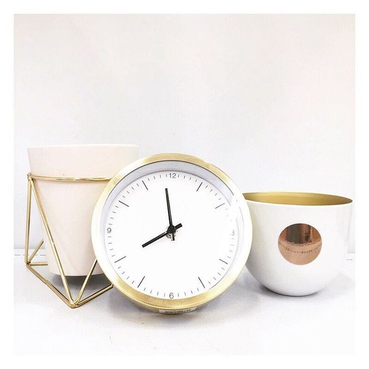 """The Bargain Diaries on Instagram: """"Here are some more of our favourites from the new @i_am_lisat collection available at @targetaus. Pictured is the $20 pot stand in gold, $25 gold clock and $15 decor bowl in white."""""""