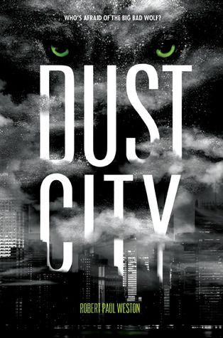 Dust City by Robert Paul Weston. A retelling of Little Red Riding Hood with an alternate ending, told through the eyes of the Big Bad Wolf's son post-LRRH ending. Important to students: ages LRRH and touches on the trauma of having a parent in prison. Important to me: takes a childhood tale and makes it come alive for older students while incorporating mature themes.