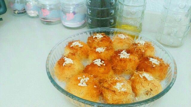 Fincanda sütlü kadayıf tatlısı