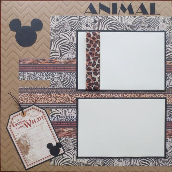 What better way to cherish the memories of your trip to Disney than this amazing two page layout. There is space for four 6X4 photos. The two 4X6 photo mats with the ribbon are easy to slide your photos under because they are only adhered on the edges. There is a coordinating tag
