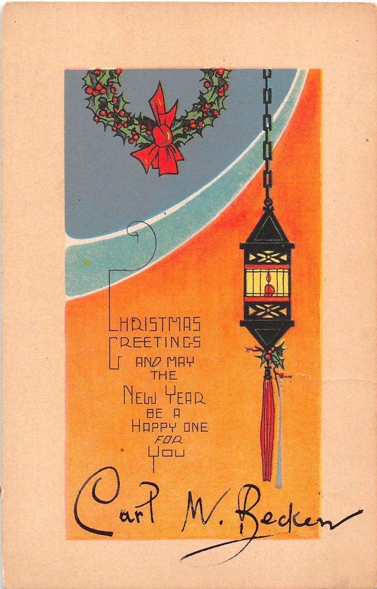 300 best Christmas Cards {Vintage & Orange} #2 images on Pinterest ...