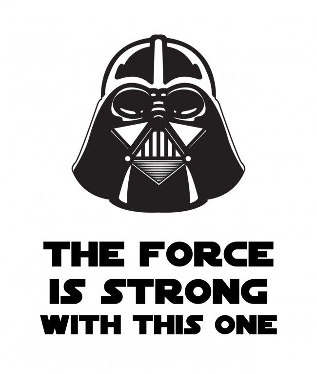 Darth Vader The Force is Strong Free Printable madeinaday.com