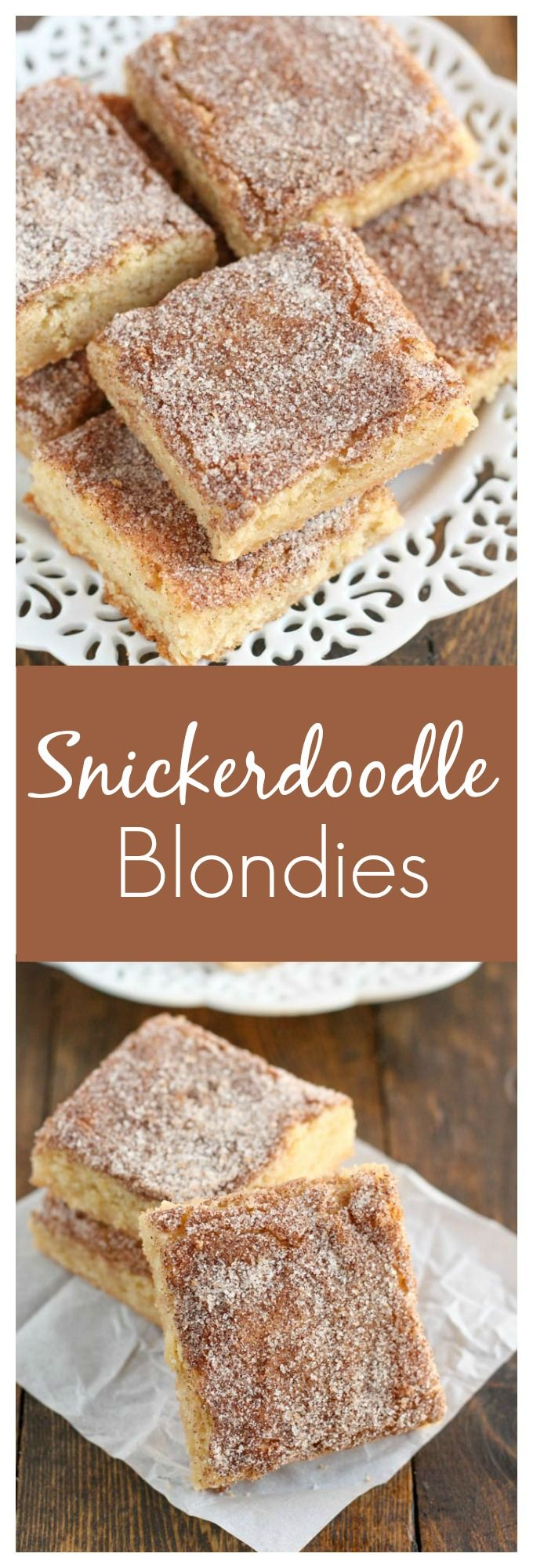 These Snickerdoodle Blondies are one of the easiest treats you will ever make! Perfect for the holidays!