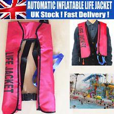 Chaleco salvavidas inflable automático para adultos 150N flotabilidad Ayuda Navegación canotaje UK