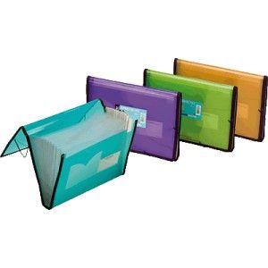Carpeta clasificadora con fuelle Fresh Foldermate azul
