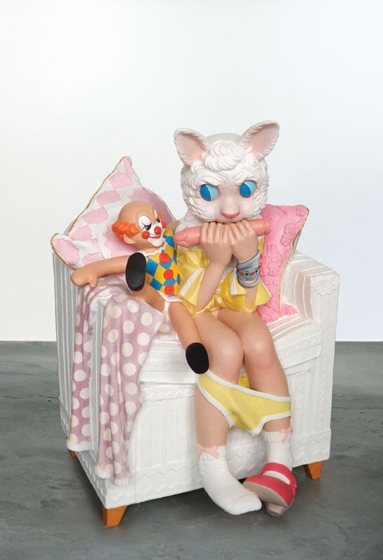 Toys in the Attic 2014, 95x66x60cm / 37,5x30x33,5inch, synthetic wood. More information: gallery@kochxbos.com