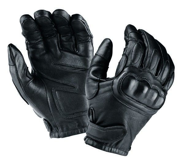 Tactical Leather Gloves Stiff Knuckles And Kevlar