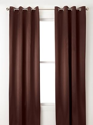 75% OFF Jennifer Taylor Home Collection Set of 2 Hallie Curtain Panels, Coffee