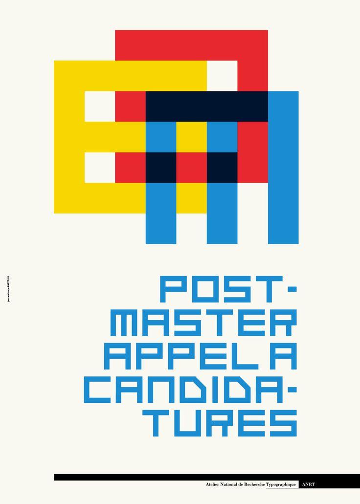 Jean Widmer pour appel à candidatures pour la promotion 2013–2014 de l'Atelier National de Recherche Typographique