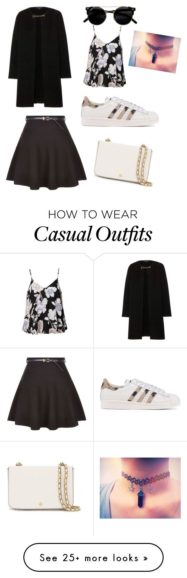 """Casual"" by melisa-alvear on Polyvore featuring Burberry, Ally Fashion, adidas Originals and Tory Burch"
