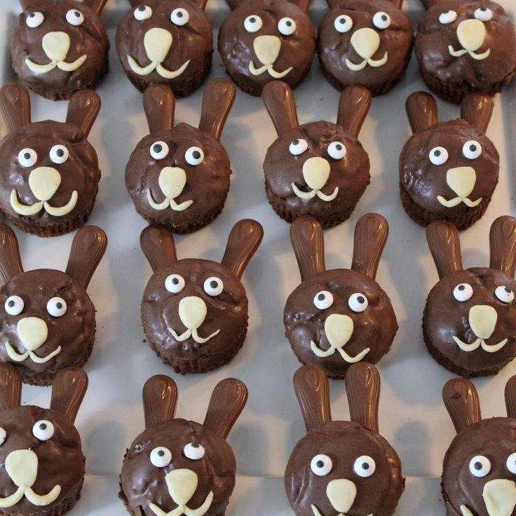 muffin, muffins, schokomuffins, schokoladenmuffins, hasen, hasenmuffins, ostern, Ostermuffins, Osterhasenmuffins, Kindergeburtstag, backen, Thermomixrezept,