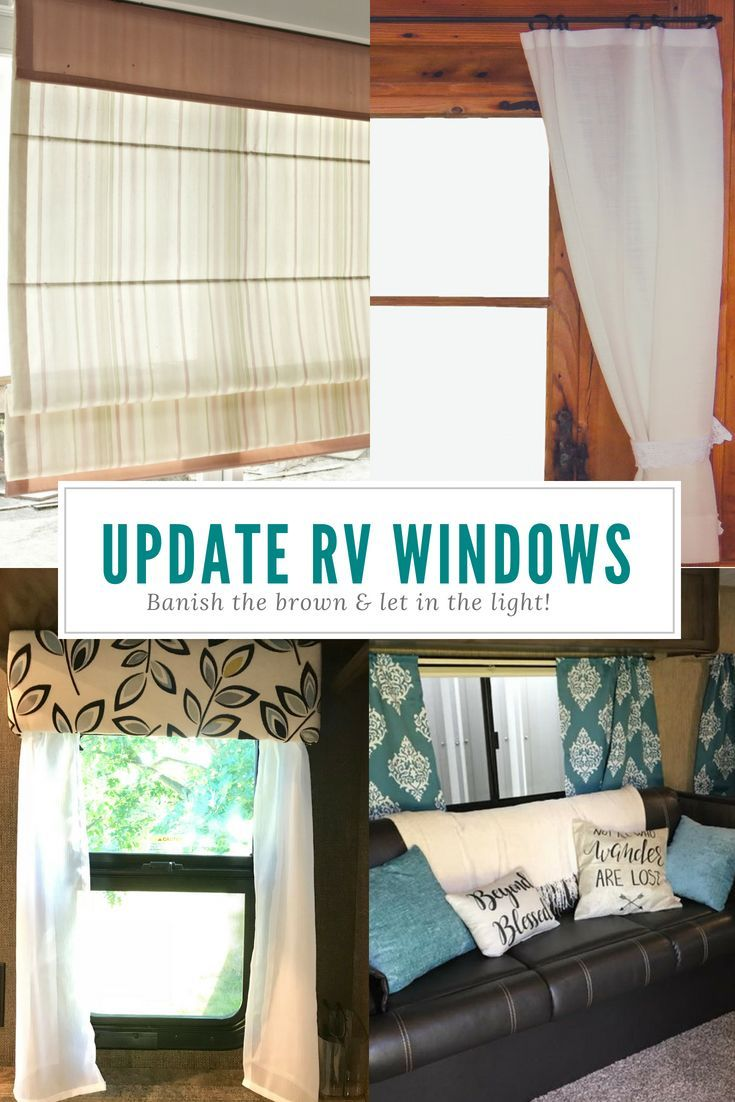 Rv Remodel Updating Your Rv Window Treatments Camper Curtains