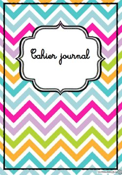 Pages, garde, cahier journal, enseignant, école, classe