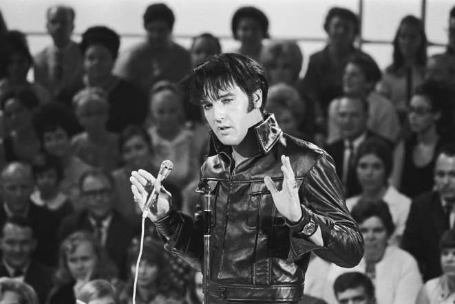 "Elvis Presley - Gary Null/NBC/NBCU Photo Bank via Getty Images - ""The image is one thing and the human being is another.  It's very hard to live up to an image, put it that way."""