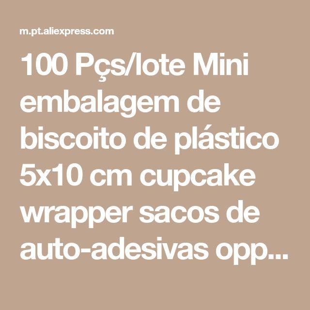 100 Pçs/lote Mini embalagem de biscoito de plástico 5x10 cm cupcake wrapper sacos de auto-adesivas opp sacos do presente saco de doces saco pacote de Batom Loja Online | aliexpress móvel