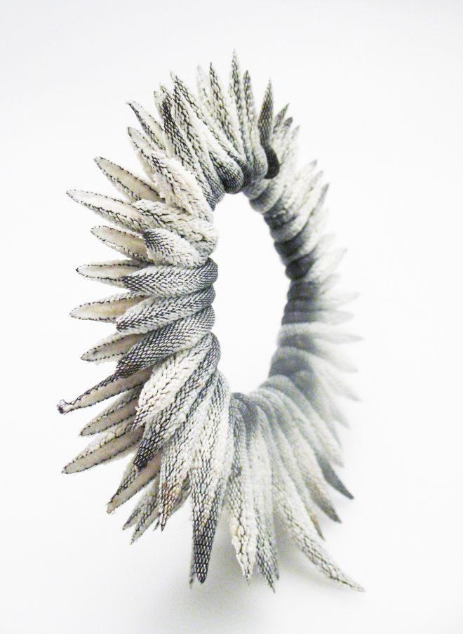 "Bracelet | Tzuri Gueta. ""Thistle"". Made from Tzuri Gueta's developed patent 'lace silicone'"