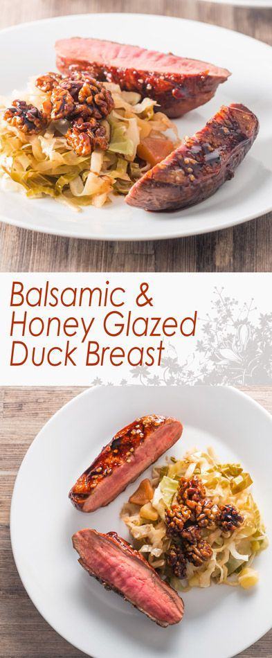 Balsamic and Honey Glazed Duck Breast Recipe: Balsamic and Honey Glazed Duck Breast is perfect date night food, fancy enough to impress but simple enough so you don't spend all night at the stove.