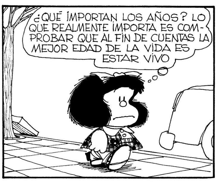 Cumplir años... #mafalda #quino