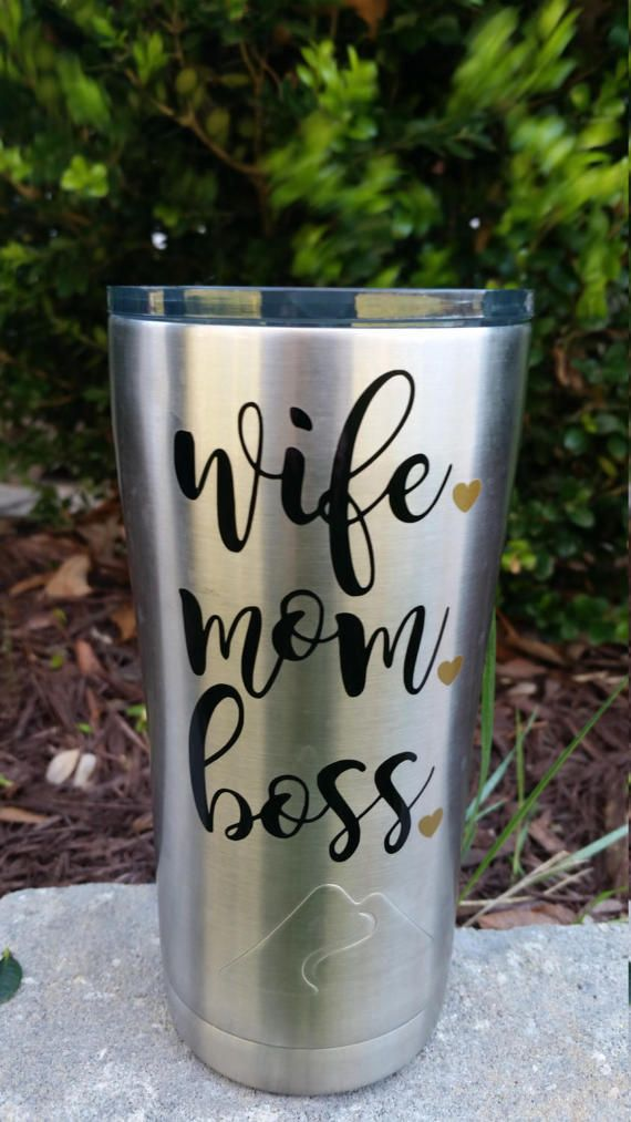 Wife Mom Boss Decal  Yeti Decal for Mom  Mom by SimplyTheBestVinyl