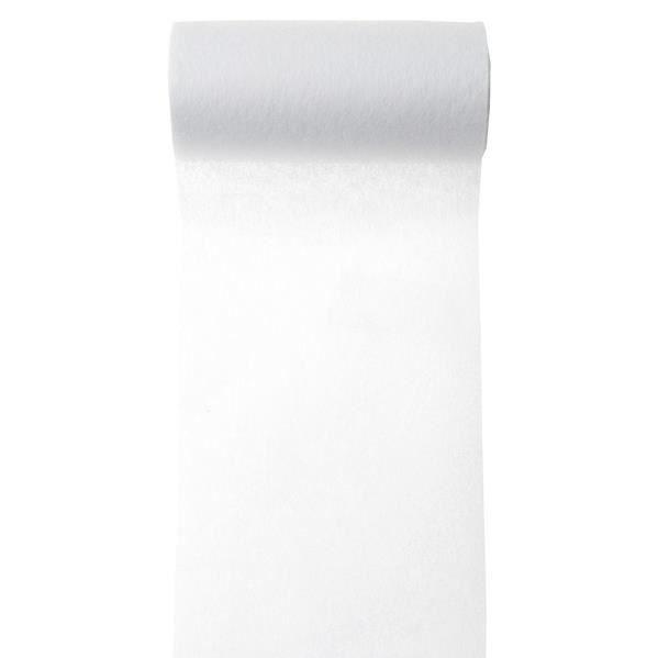 Ruban intissé uni 10m-largeur:10cm-Blanc - Achat / Vente chemin de table jetable - Cdiscount