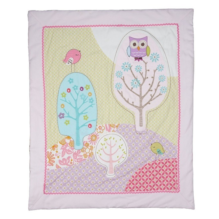 Living Textiles Poppy Seed – Cot Quilt