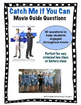 Catch Me If You Can Movie Guide Questions Teaching Teaching