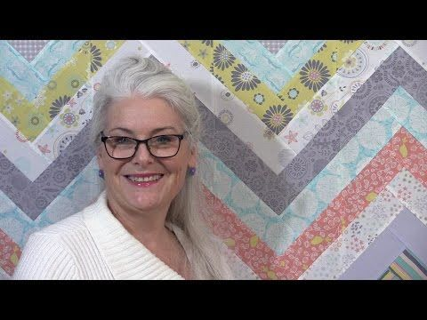 """Cutting 7"""" to 9"""" Strips, She Sews Them Together. The Next Thing She Does Is Brilliant - DIY Joy"""