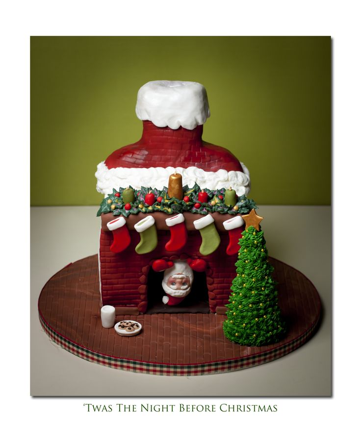 - My first Chrismas cake. Got the idea form picures here on CC. Lots of fun and customer was very pleased.