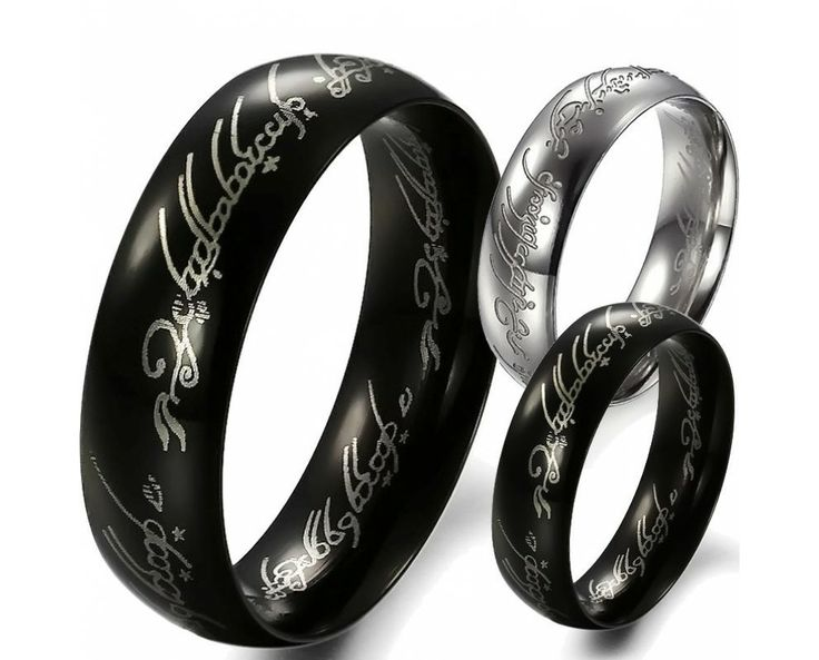 New Lord of the Rings Men's band Ring Stainless steel powerful King 2 colors 324 - USD $26.95