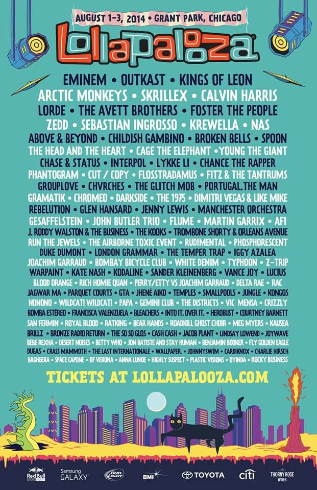The Lollapalooza 2014 Lineup is Here!