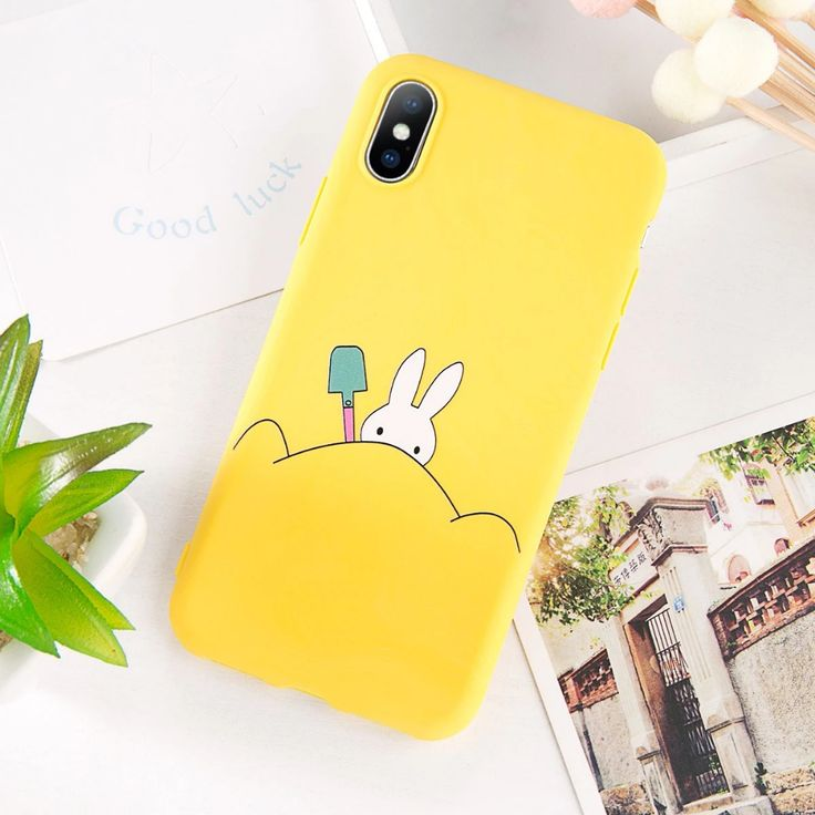 Cute Cat Yellow Duck Phone Case for iphone 6 7 8 plus X XR XS MAX phone Cases Soft Backe Cover Fundas capa
