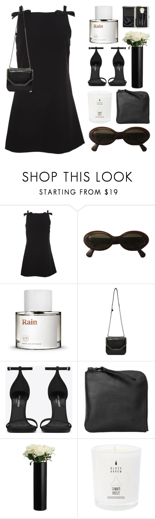 """Black + White"" by its-ishani ❤ liked on Polyvore featuring Miu Miu, Moschino, STELLA McCARTNEY, Yves Saint Laurent, Xenab Lone, John Lewis, Bobbi Brown Cosmetics, YSL, blackandwhite and StellaMcCartney"
