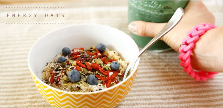 Recipe of the Week: Energy Oats Move Nourish Believe  I have something similar each morning.. minus goji berries.. more simplified style.