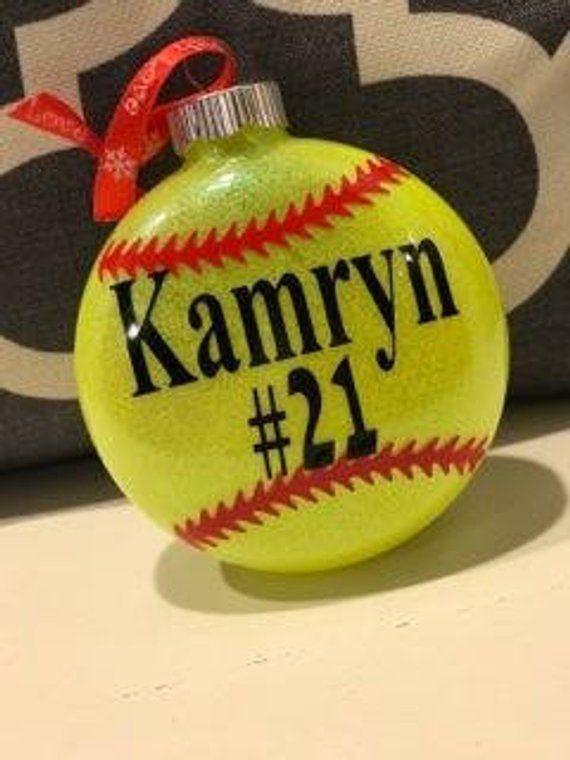 Softball ornament, Softball, Personalized softball ornament, Christmas  ornament, personalized christmas ornament, Softball Coach gift - Softball Ornament, Softball, Personalized Softball Ornament
