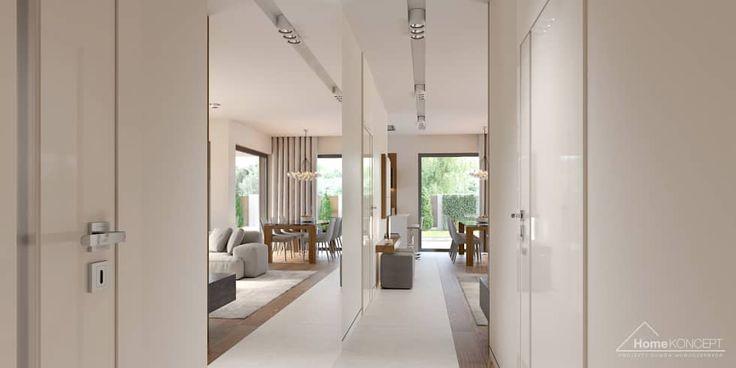Fotos de pasillos, vestíbulos y escaleras de estilo moderno de homekoncept | projekty domów nowoczesnych | homify