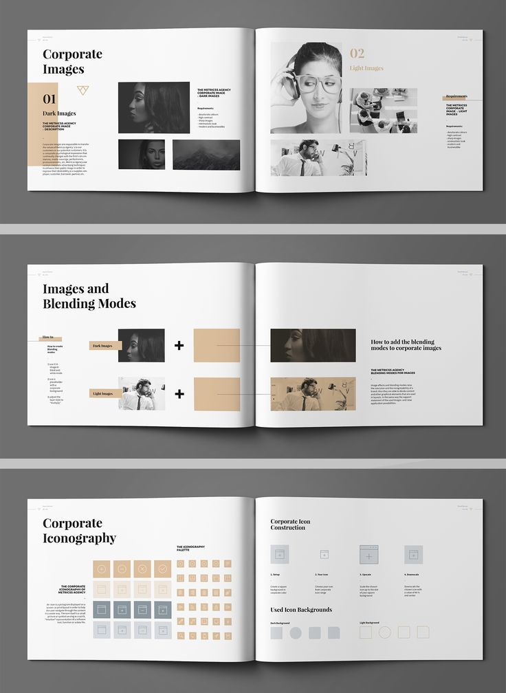 Brand Manual And Identity Template Corporate Design Brochure With Real Text Minimal And Corporate Design Corporate Design Manual Portfolio Design Layout