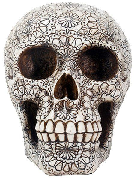 """Gothic"" Skull by Summit Collection - www.inkedshop.com#inked #inkedmag #gothicskull #art #skulls #summitcollection #decor #black&white"