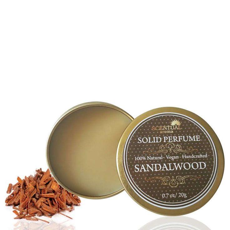 Sandalwood Solid Perfume, Organic Sandalwood Perfume Bar, Vegan Perfume, Natural Perfume, Gift Idea by ScentualAroma on Etsy
