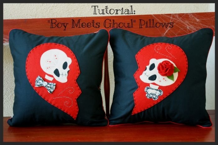 "» Guest Blogger Tutorial ""Boy Meets Ghoul"" Pillow Hart's Fabric"