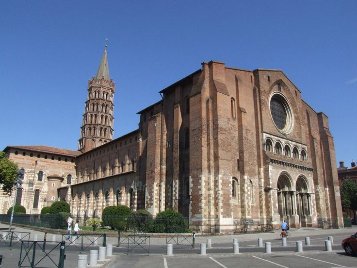 Saint Sernin -- a beautiful basilica with the romanesque architecture in the old city of Toulouse, France (my current city)