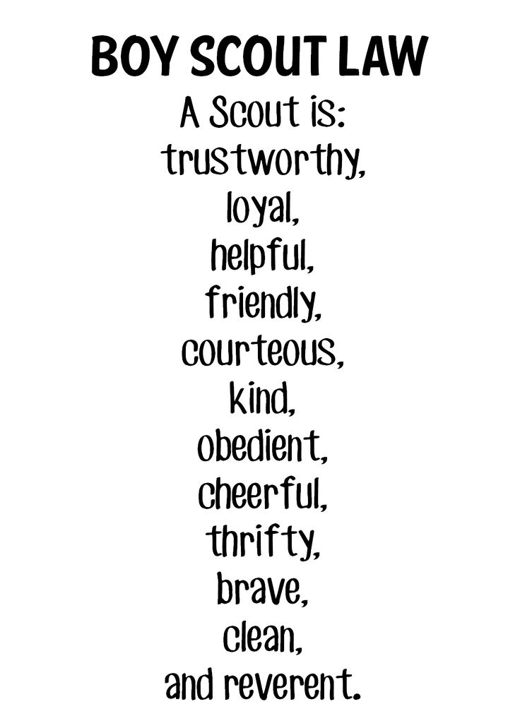 20 Best Cub Scout Oath Law Images On Pinterest