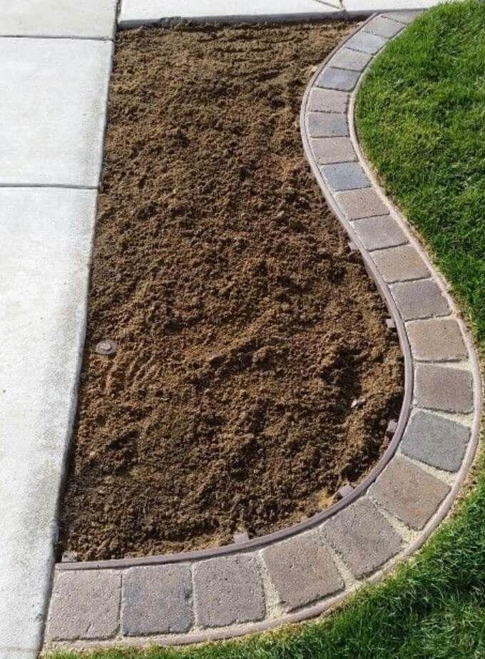 Concrete And Pavers Lawn Edging Garden Edging Ideas Diymorning Com Lawn Edging Brick Garden Edging Garden Edging