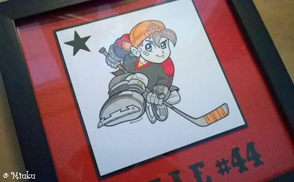 Kenny K Ice-hockey player. / Jääkiekkoilija taulu