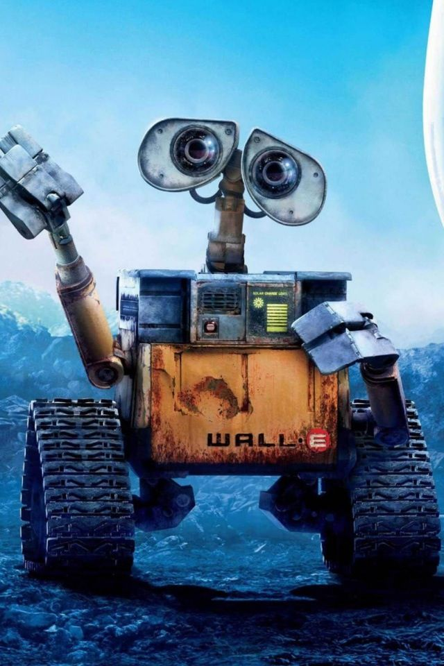Wall-E (2008). One of my favourite animated films. The lead characters, Wall-E and Ev-E, don't talk yet they communicate so fluidly.
