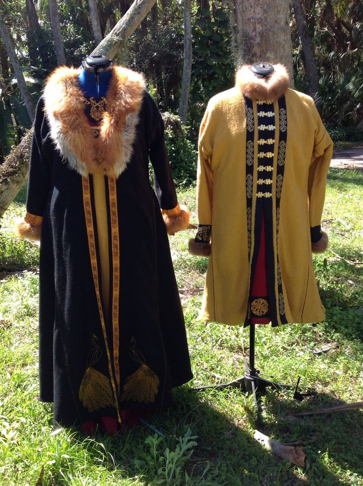Norse vIking Rus kaftans, tunics, apron dress made for Trimaris royals