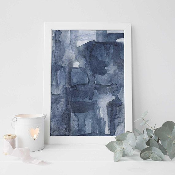 Modern Abstract Watercolor Flower Canvas Poster Contemporary Art Print Picture